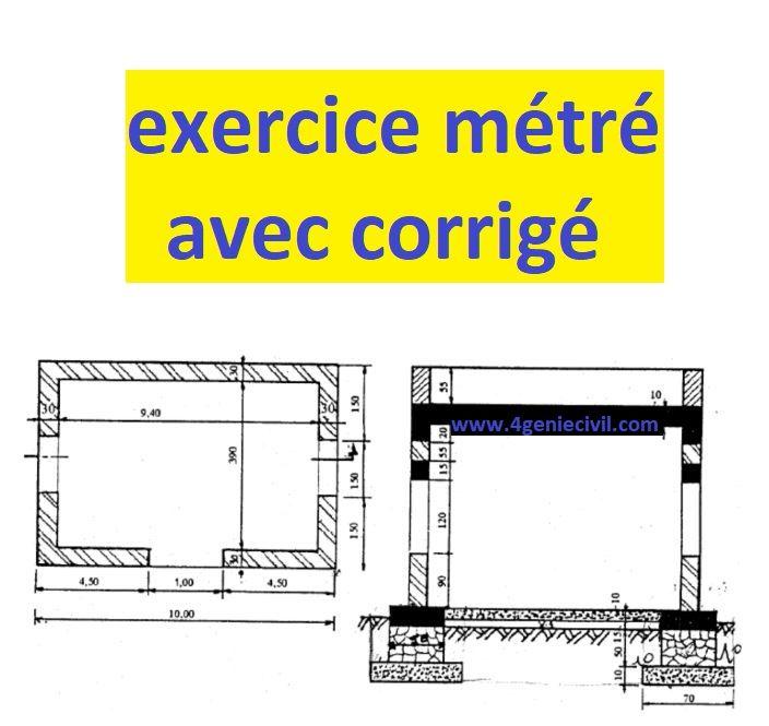Exercice Metre Avec Solution Pdf Cours Genie Civil Outils Livres Exercices Et Videos Genie Civil Lecture De Plan Exercice