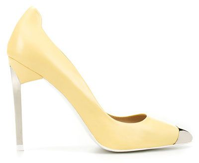 Yellow court shoes with metal toe caps from Zara