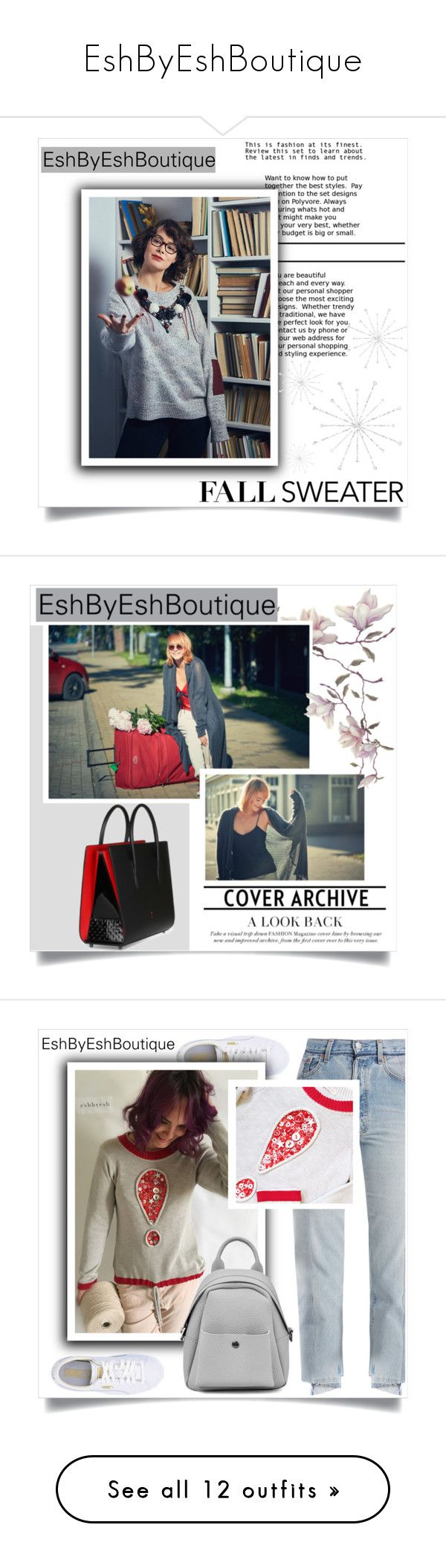 """""""EshByEshBoutique"""" by amra-mak ❤ liked on Polyvore featuring EshByEshBoutique, Christian Louboutin, Puma, Vetements, Bliss and Mischief, Dsquared2, Skechers, Casadei, The Row and Fendi"""