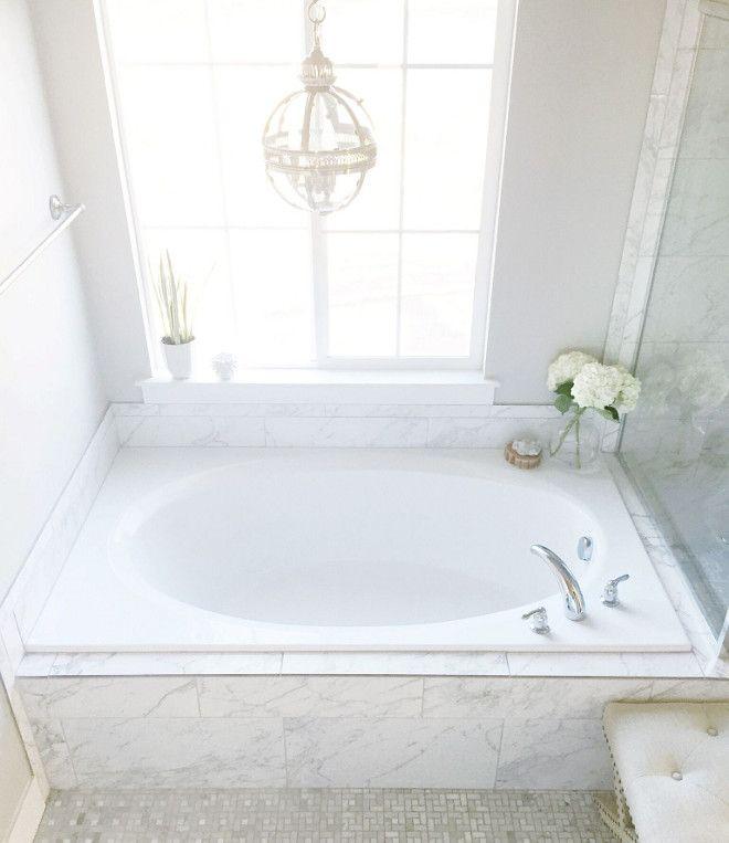 Tub And Shower Wall Tile TT Pietra Carrara 12x24 Horizontal