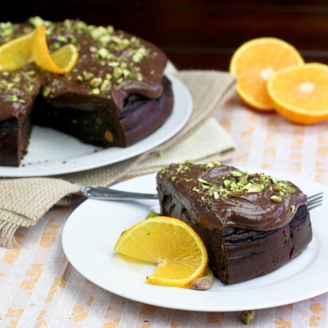 Healthy Flourless Chocolate Orange Cake