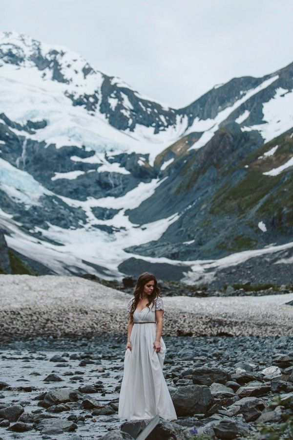 Alaskan Elopement Inspiration at Portage Lake