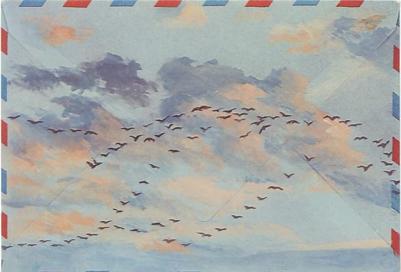 Christopher Glanville Birds Postcard - Sky High