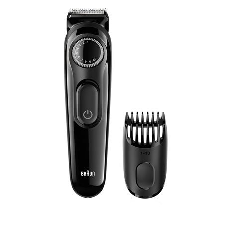 The Braun beard trimmer BT3020 lets you trim your hair to the exact length you select.