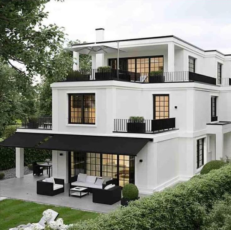 Three Level Tiered House Black And White House Dream House Exterior House Design House Designs Exterior
