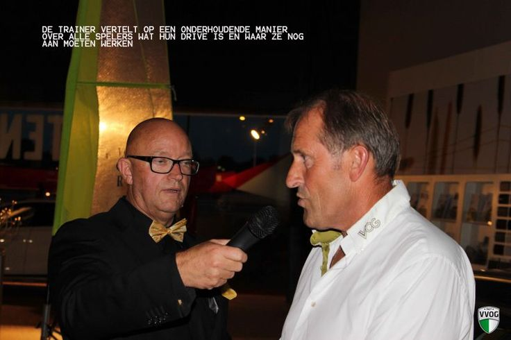 As a interviewer. Here with the well know trainer Jan Schulting (Cambuur, PEC Zwolle, etc)