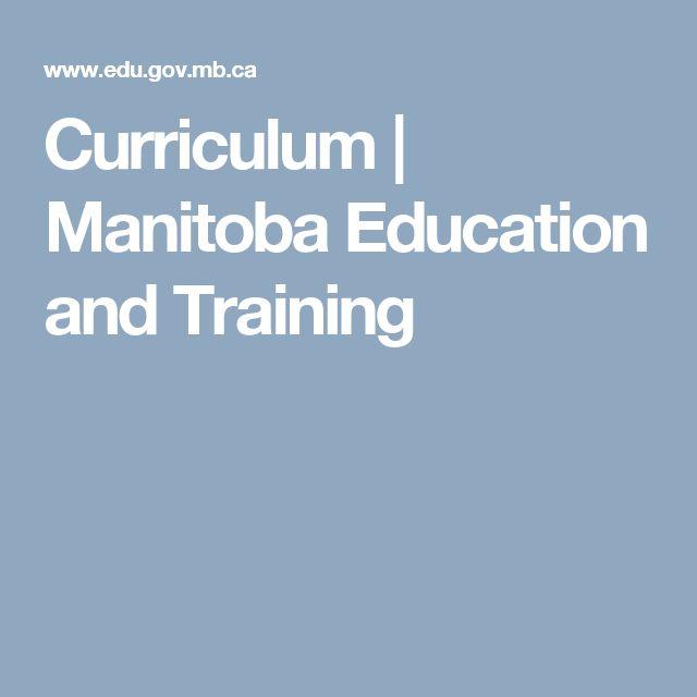 Curriculum | Manitoba Education and Training