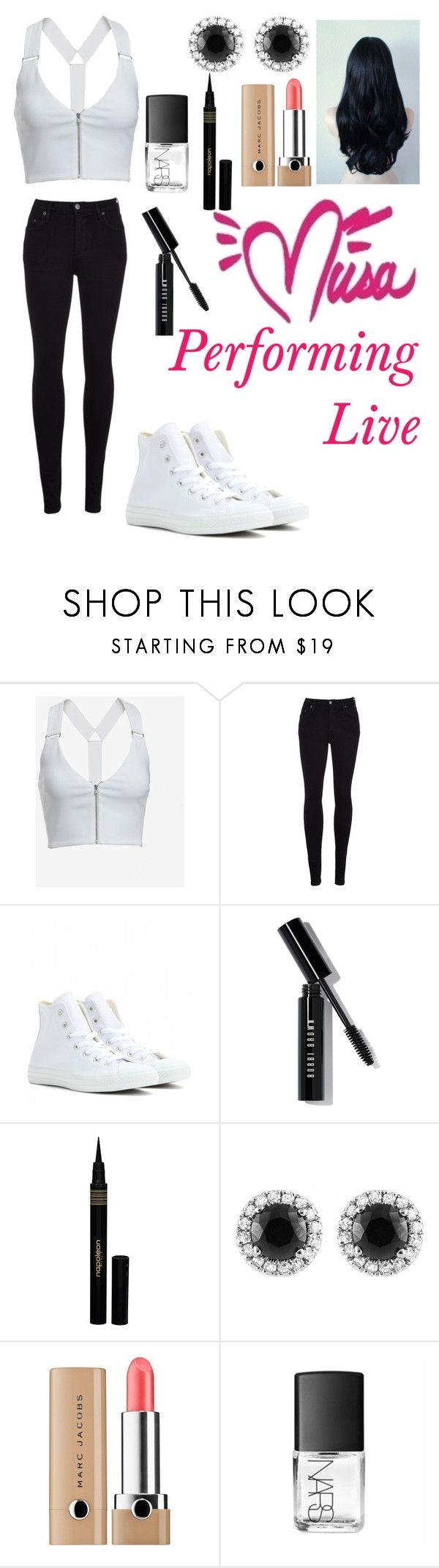 """""""Musa Concert wear"""" by a5-the-glue ❤ liked on Polyvore featuring A.L.C., Citizens of Humanity, Converse, Bobbi Brown Cosmetics, Napoleon Perdis, Beverly Hills Charm, Marc Jacobs and NARS Cosmetics"""