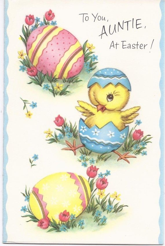 E94 Vintage 60's Unused Child's Easter Greeting Card by jarysstuff