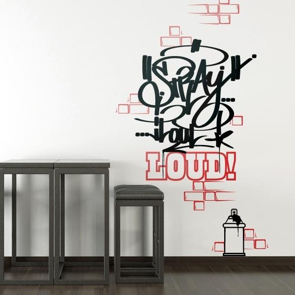 Graffiti wandtattoo wandsticker wandtattoos walltattoo wandtatoo tomzerest pinterest - Wandsticker graffiti ...