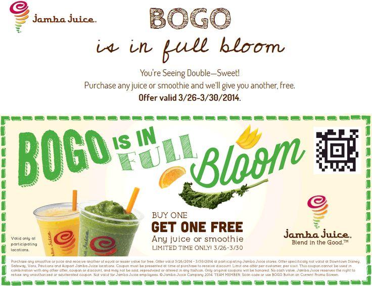 Coupon for jamba juice smoothie