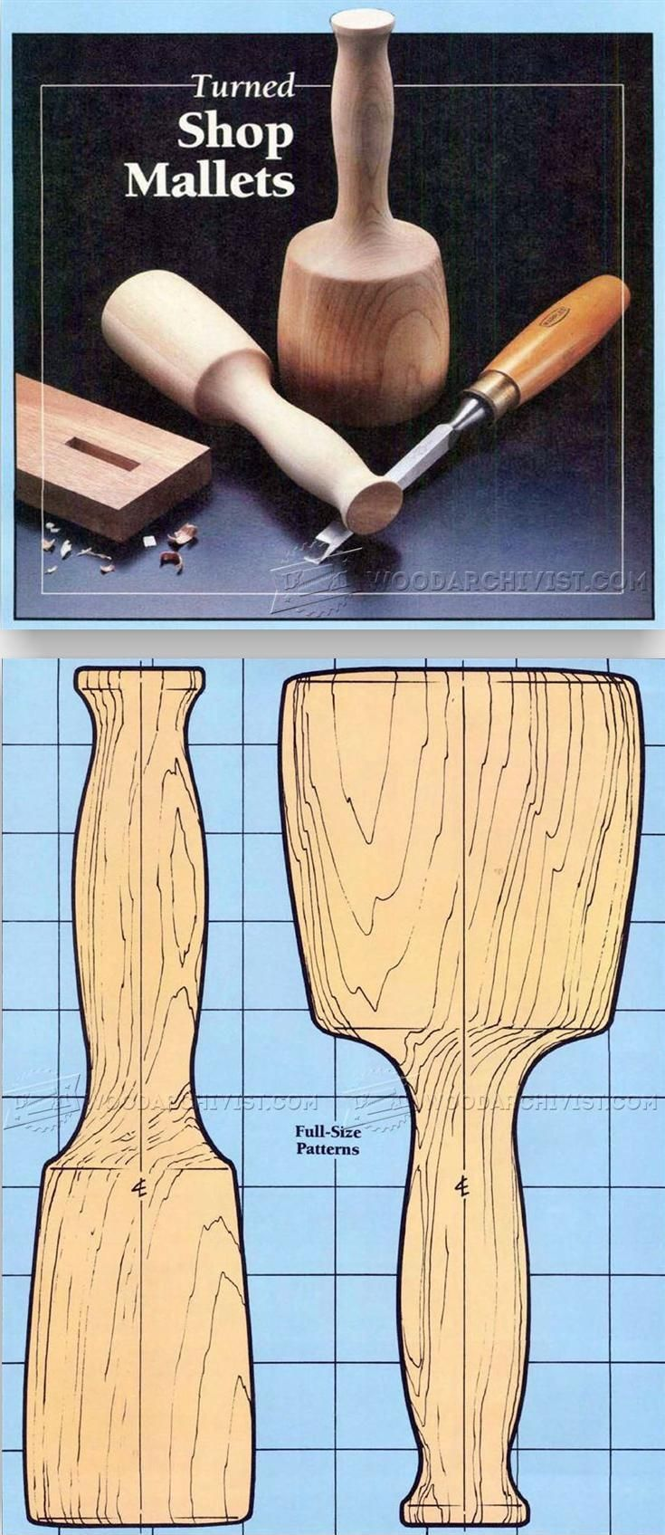 Wooden Mallet Plans - Hand Tools Tips and Techniques