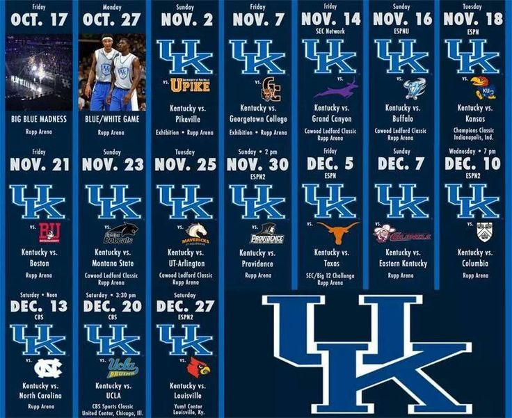 Uk Basketball Schedule: Best 25+ Kentucky Wildcats Schedule Ideas On Pinterest