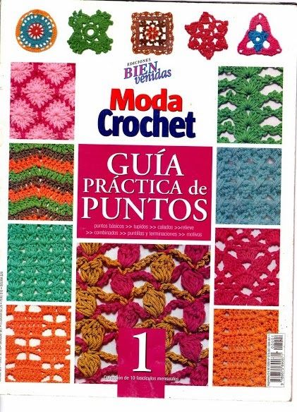 Revista de crochet - Guía práctica de puntos 1