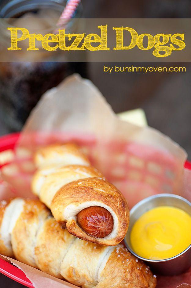 Homemade Pretzel Dogs - Al Igual Que la tía de Anne! # Receta bunsinmyoven.com