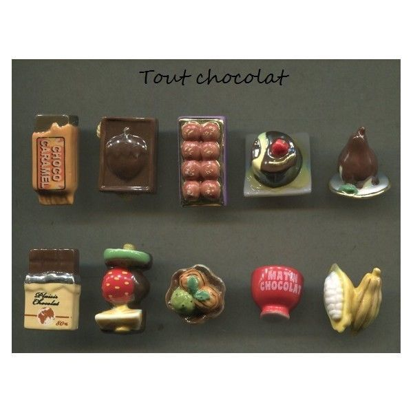 Série complète de 10 fèves Tout chocolat 2015