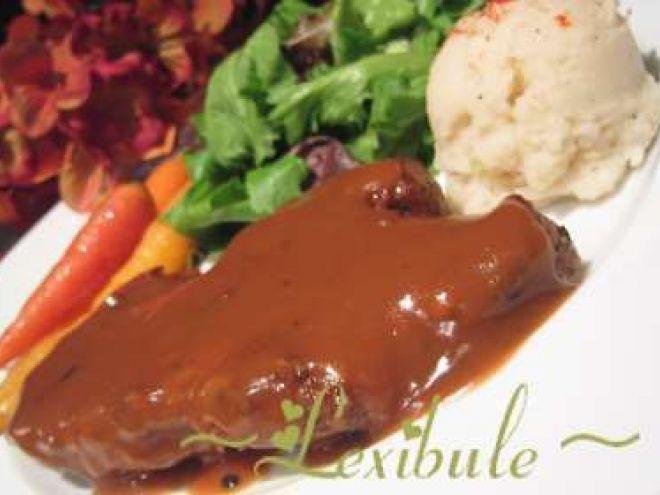Recette Plat : Longe de porc mariné au miel, soya et vinaigre balsamique par Lexibule