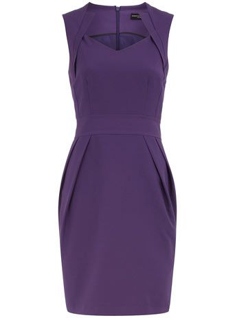 I love the cut of this dress, but in a different color. I love purple, but it's not my best color.