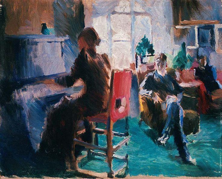 Harriet Backer, Ved pianoet