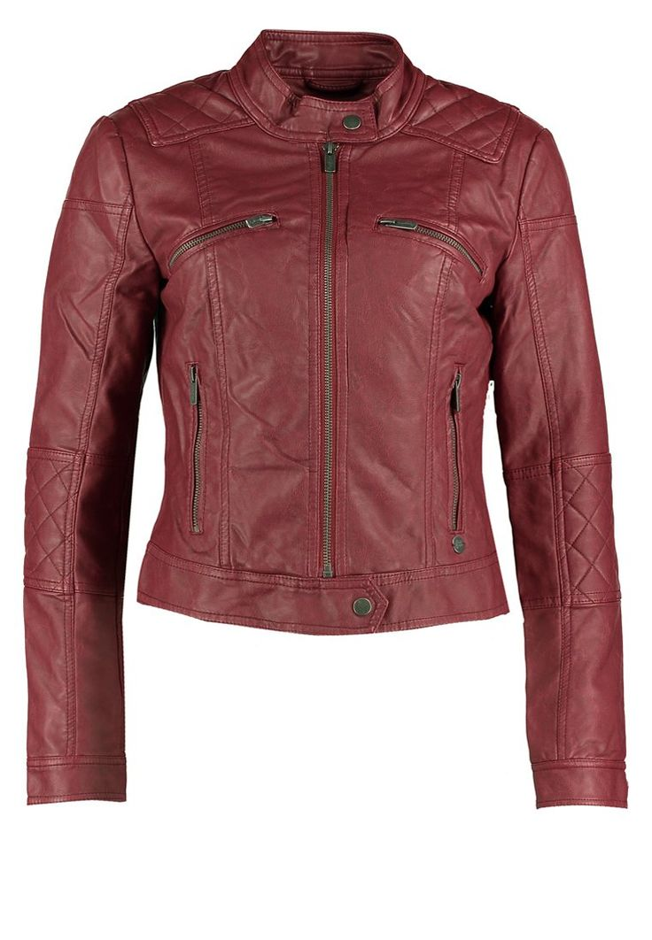 Pepe Jeans EVELINE Faux leather jacket red