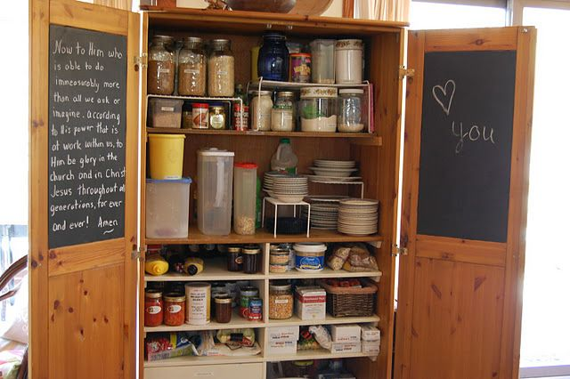armoire used as a pantry...totally want one of these if my new place doesn't have a pantry