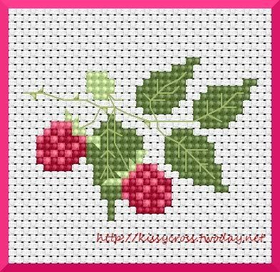 Strawberry Cross Stitch Freebie Sticken::himbeere.jpg image by Kissy-Cross