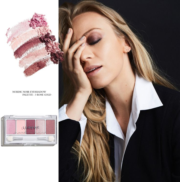 "The burgundy smokey eye for softer daytime wear  ""Layering a warm selection of maroons, browns and bronze shades, the day version of a smokey eye has become one of my signature looks."" says Sandra Hagelstam, Lumene Digital Ambassador. #nordicnoir"