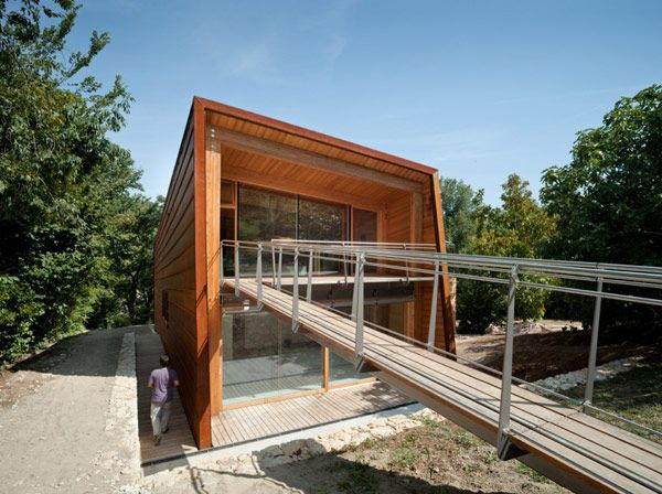 Home Design and Interior Design Gallery of Amazing Experimental Zero Energy Building Exterior Floating Corridor