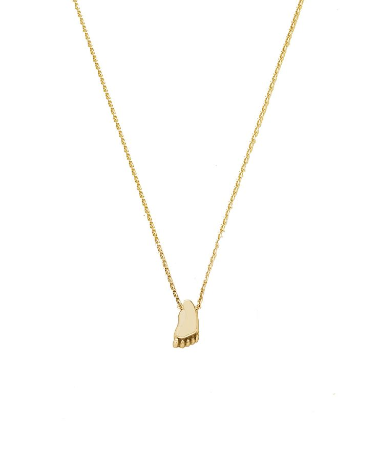 Joy de la Luz initial collier 14K gold | foot small yellowgold