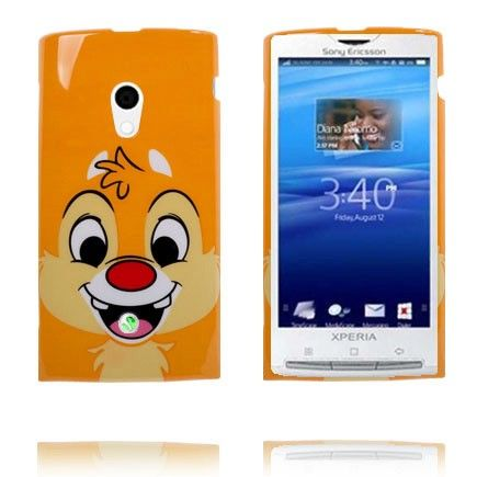 Happy Cartoon (Snipp Oransje) Sony Ericsson Xperia X10 Deksel