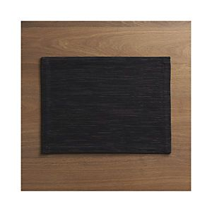 Grasscloth Black Placemat
