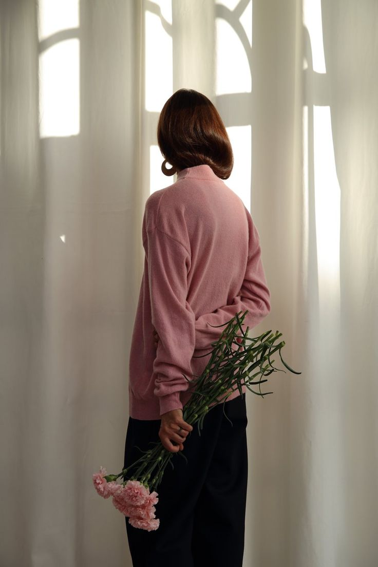 Image of Pink mock neck