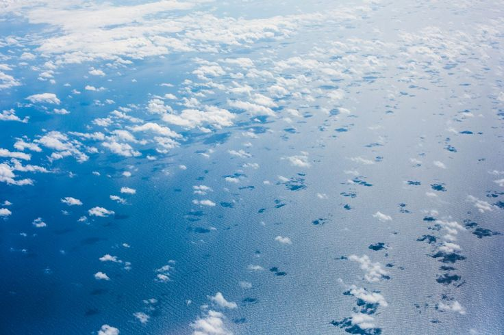 Free Image: Clouds over the Pacific Ocean from an Airplane | Download more on picjumbo.com!