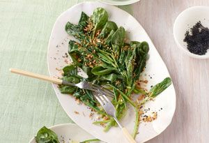 Wilted Spinach with Golden Sesame-Garlic Crumbs Recipe Recipe created ...