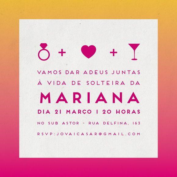 Convite Digital - Despedida de Solteira
