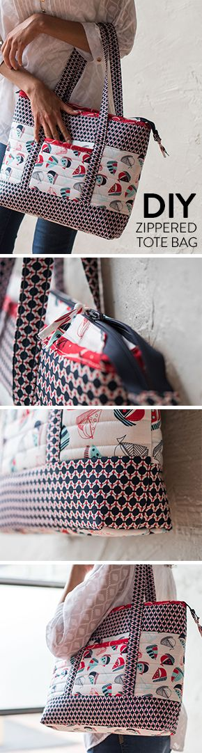 Great for a day on the beach or a quick sail around the harbor, this DIY quilted tote will soon be your favorite summer carry-all.