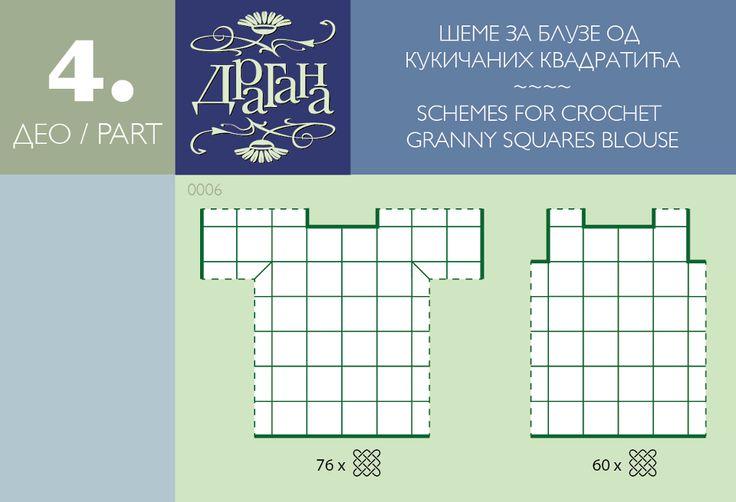 Crochet Square Motifs Diagrams. For a top