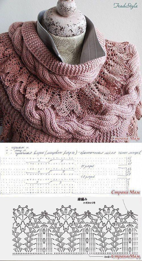 bufanda crochet tricot