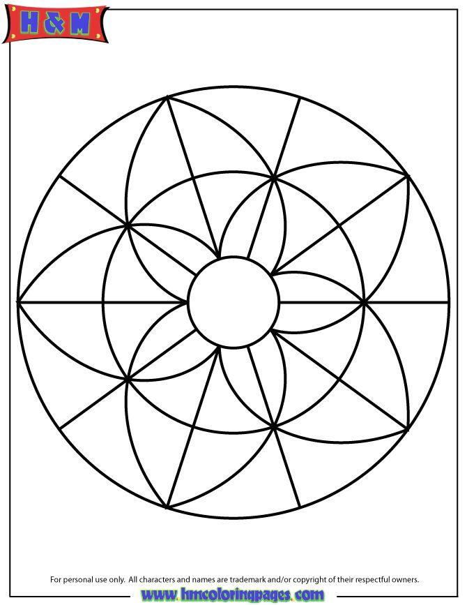 Simple Mandala Coloring Page Printout Mandalas