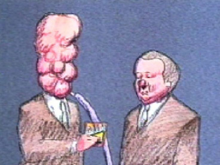 """Read more: https://www.luerzersarchive.com/en/magazine/commercial-detail/niknaks-22866.html NikNaks NikNaks """"When Harry Met Alfie"""" + """"Harry Kary"""" [00:30]# The decision to use Bill Plympton's gorily funny cartoon characters for the commercials that are to advertise snacks is decidedly eccentric, to say the least, as Plympton is not exactly known for his """"tasteful"""" humour. Still, the campaign has proved to be very successful and was awarded a bronze Lion in Cannes. Tags: Ogilvy & Mather…"""