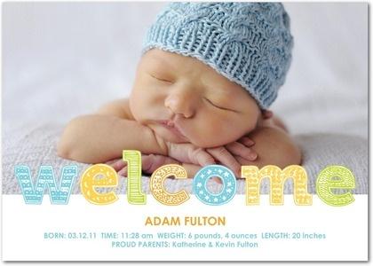 Birth announcement.