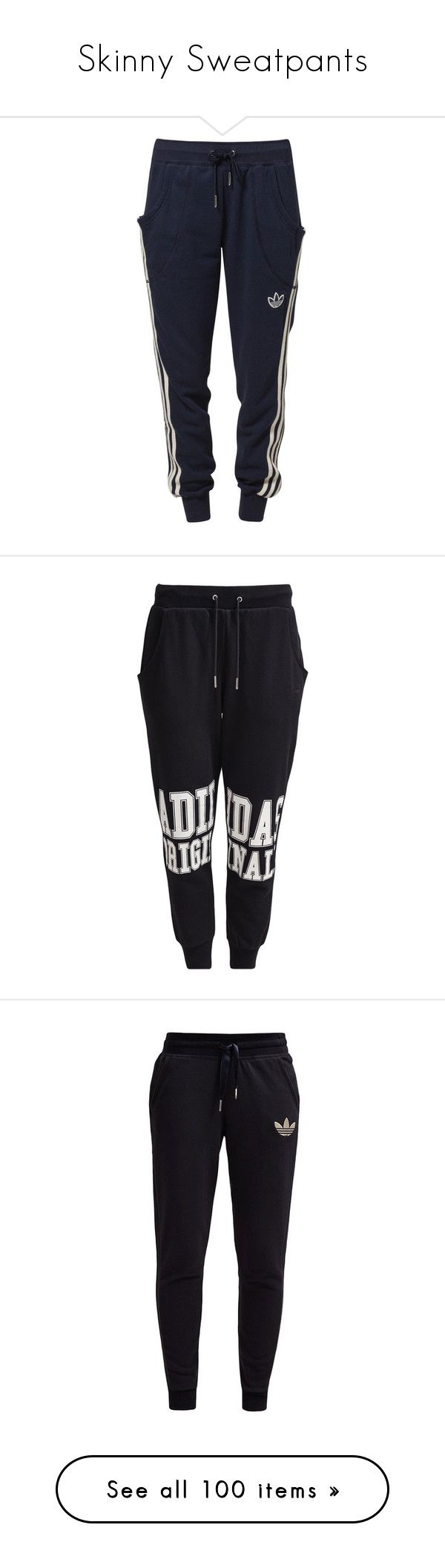 """""""Skinny Sweatpants"""" by nnenna21 ❤ liked on Polyvore featuring activewear, activewear pants, pants, bottoms, sweatpants, jeans, blue, joggers &amp sweats, women's sportswear and jogger sweat pants"""