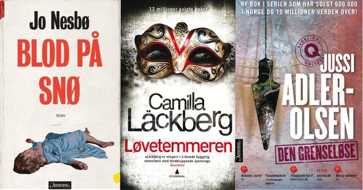 <p>NORSK, SVENSK OG DANSK: Jo Nesbø, Camilla Läckberg og Jussi Adler-Olsen kommer alle med bøker denne våren.</p><p/>