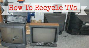Today I am sharing how and where do you recycle Old TVs, Computers and Appliances. Also read about how to recycle hazardous waste and paint in this series. | Organize 365