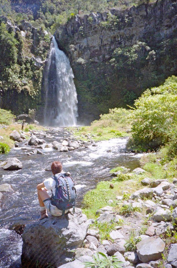 """La cascade du """"Voile de la Mariée"""" à Grand-Bassin  16.10.1997"""