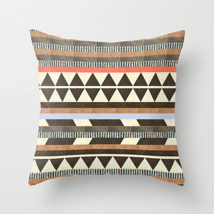 Aztec Pillow Cover #geometric #living #homeideas dotandbo.com