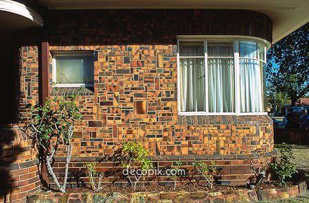 House with beautiful & unusual decorative brick, Melbourne, Australia