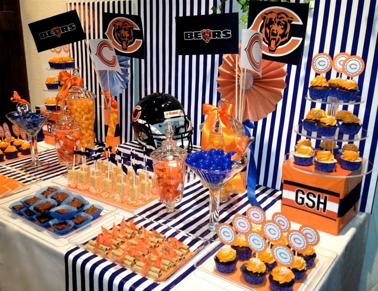 Chicago Bears Dessert Buffet---- Have to do this one game!!