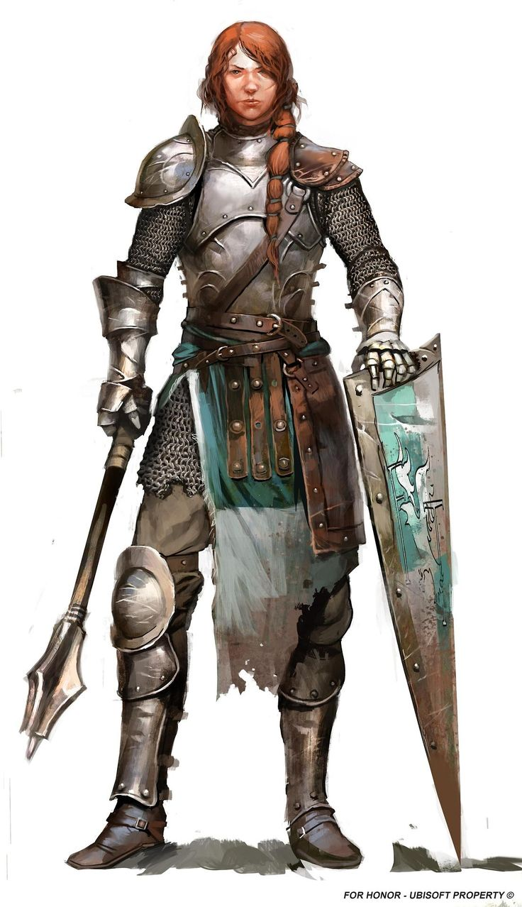 """A woman in armor: """"Knight (For Honor) by Guillaume Menuel """" – R"""
