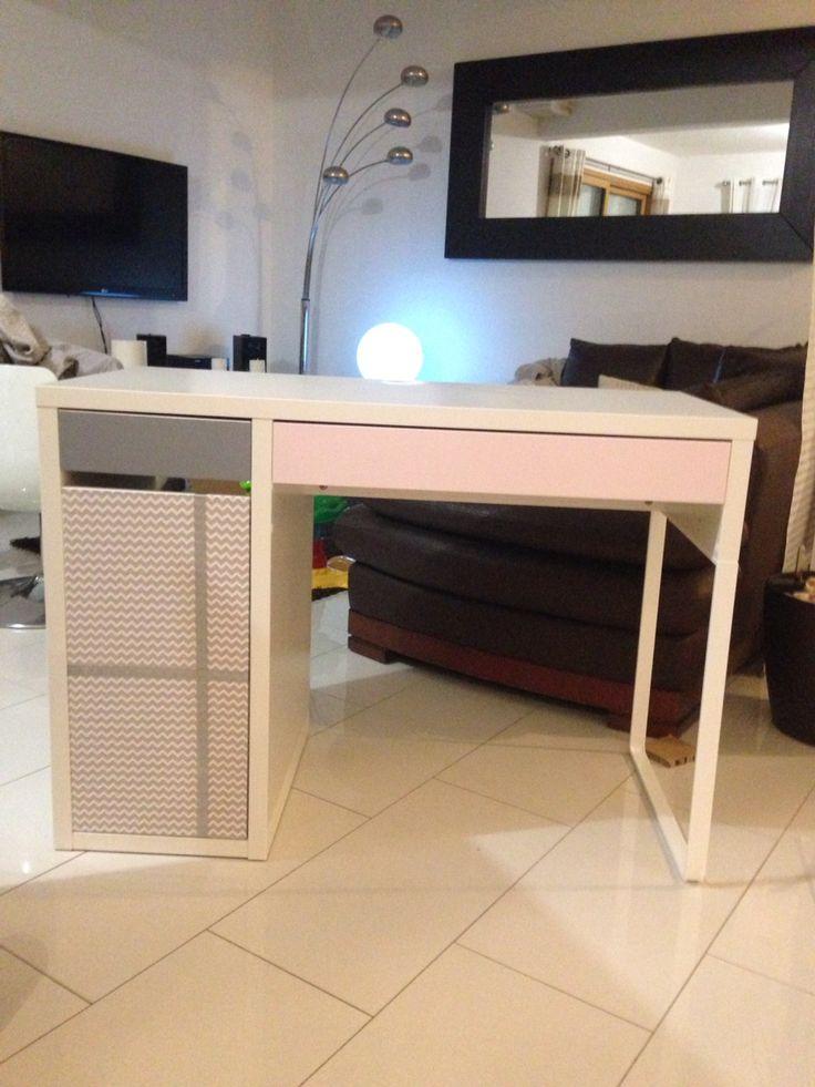 trendy lovely bureau petite fille ikea bureau ikea transformer en un joli petit bureau with. Black Bedroom Furniture Sets. Home Design Ideas